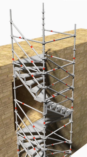Multistair 2 niveaux de sortie - Layher-png