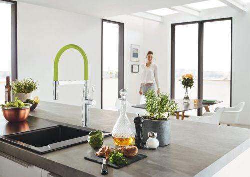 GrohFlexx Bec de cuisine flexible Vert-jpg