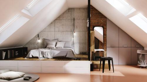 saint-gobain-fr - chambre ado combles style industriel - credit photo Saint-Gobain-jpg