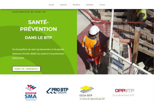 Homepage siteAccelerateur start-up Sante Prevention-jpg