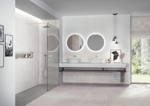DECOCERAM MEDLEY Ambiance bain ivory 30×60  60×60 30×60 dec grey mosaico 300-jpg