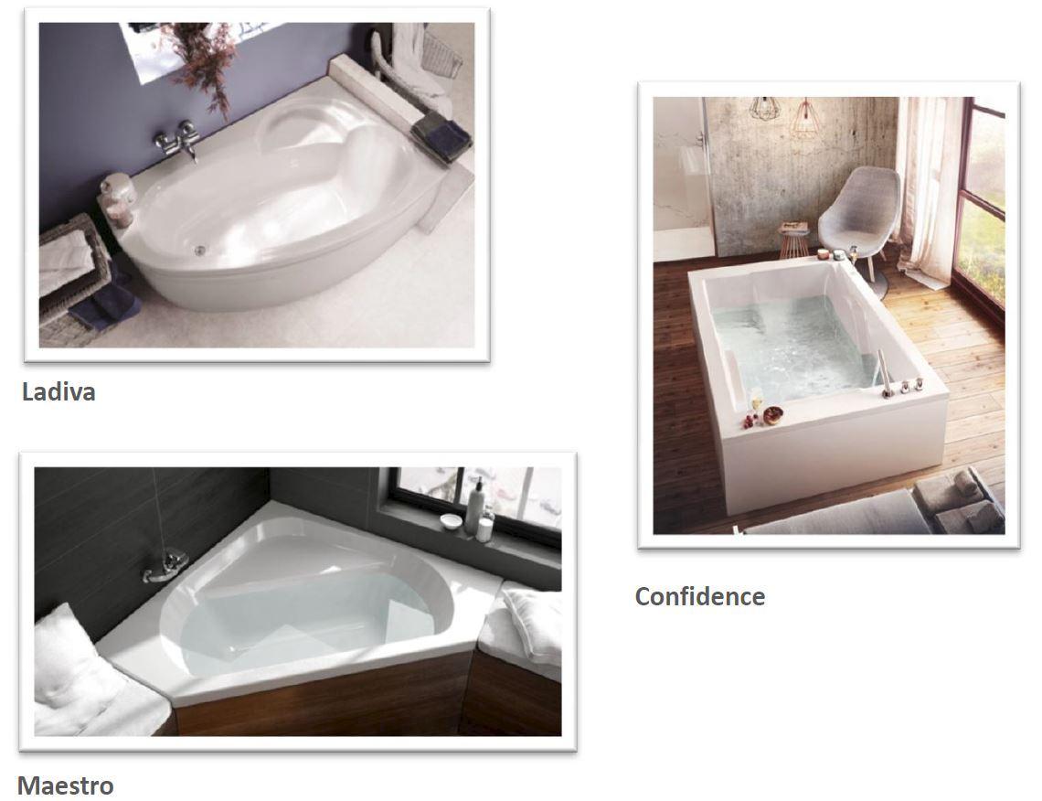 fabricant baignoire Pour les adeptes inconditionnels des bains et des plaisirs de lu0027eau, la  baignoire asymétrique Ladiva en Toplax® offre un véritable ...