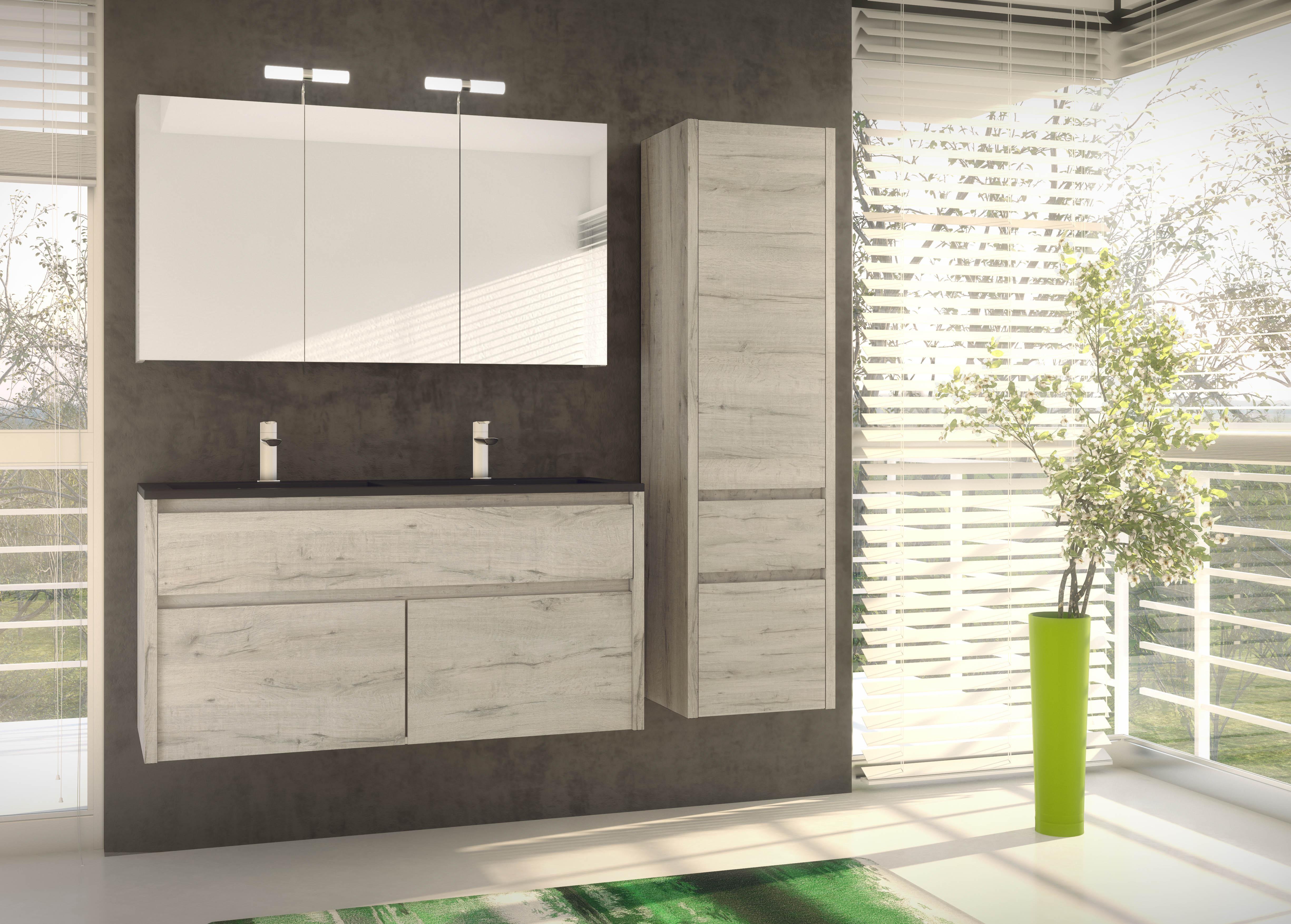 Salle De Bain 2017 meuble aston, le bois s'invite dans la salle de bains | clc