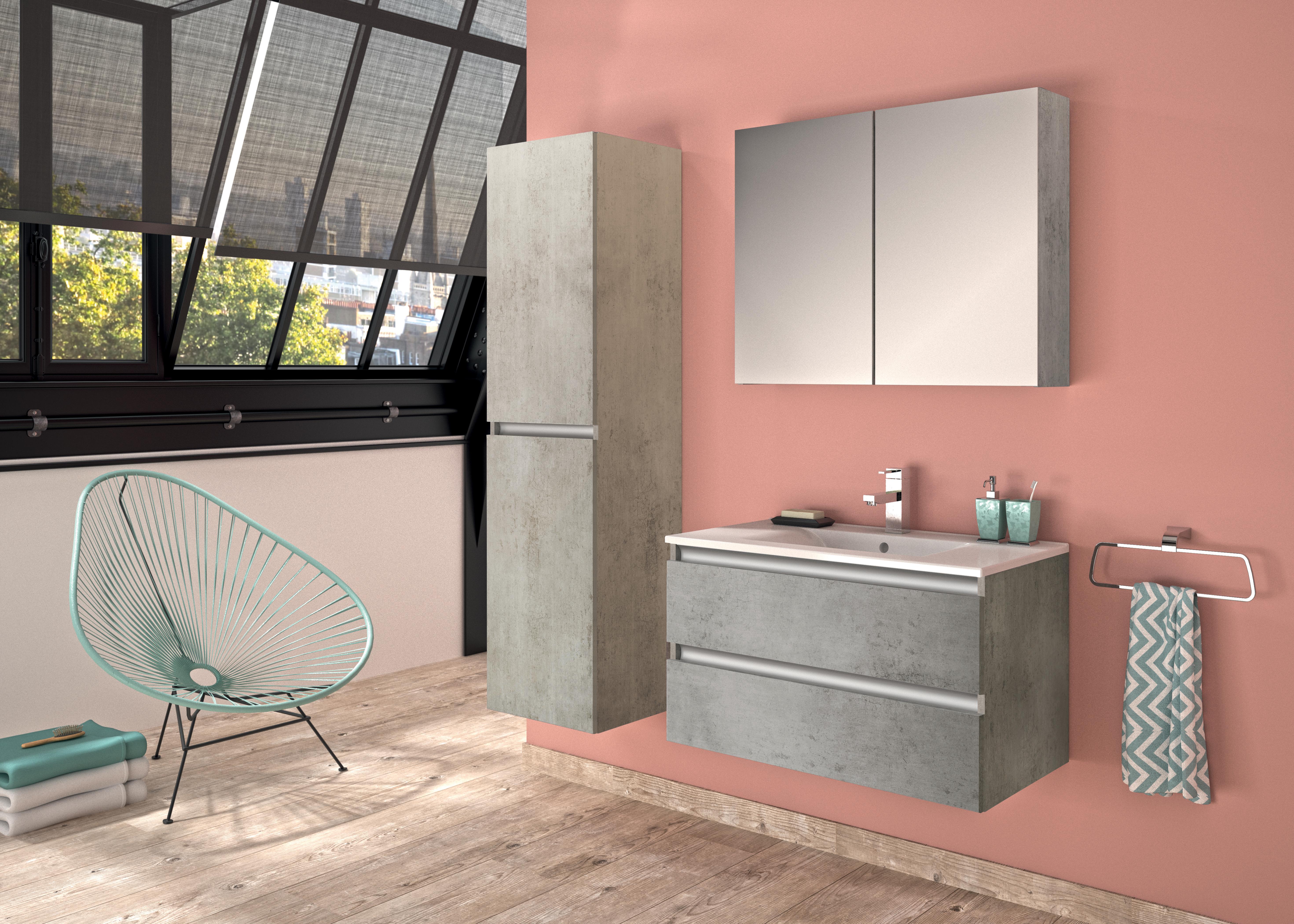 Pesaro d\'Allibert : une salle de bains à l\'esprit urbain ...