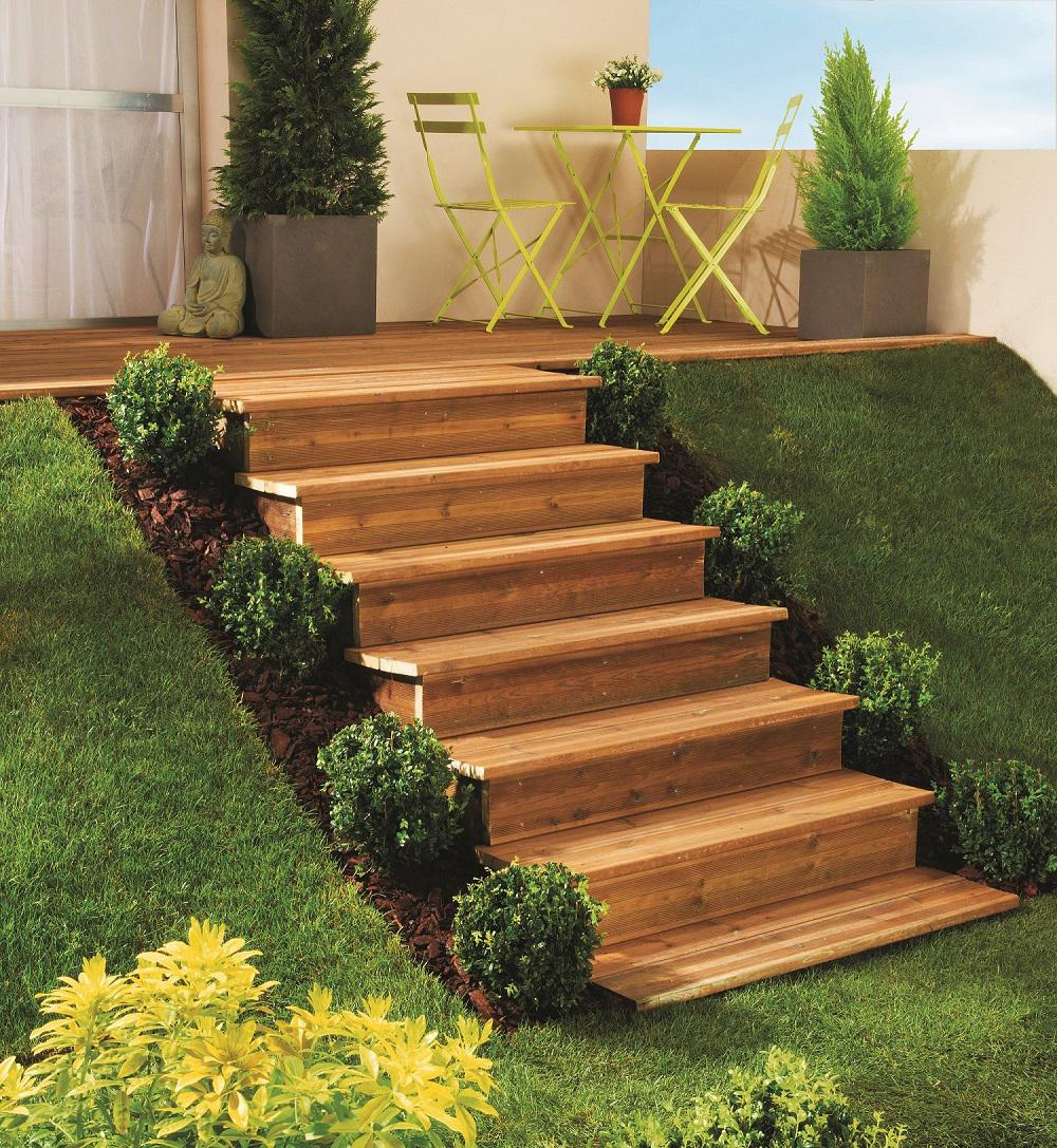 Escalier ext rieur modulesca de jouplast le choix de Jardin en escalier