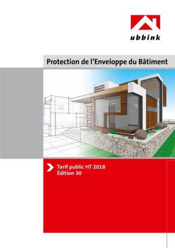 Tarif Enveloppe du Batiment 2018 - UBBINK-jpg