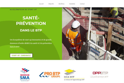 Homepage siteAccelerateur start-up Sante Preventionmai 2018-JPG