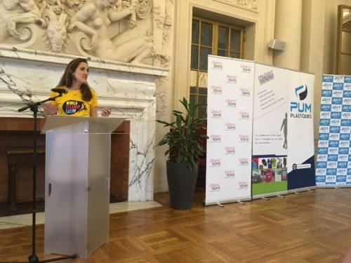 Anna Gril chargee de mission de la JCEF pour le World CleanUp Day-jpeg