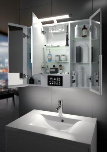 Allibert – Armoire de toilette Opty ouvert-jpg