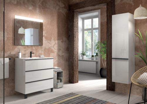 Allibert – meuble Santiago -meubleblancbillant80cm3taposersantiago-jpg